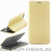 Чехол книжка Apple iPhone 6/6S Fashion Case с визитницей золотой