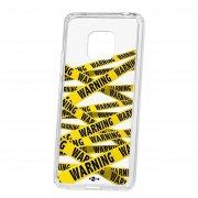 Чехол-накладка Huawei Mate 20 Pro Kruche Print Warning