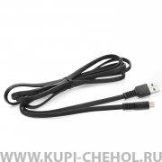 Кабель USB-Micro WK Flushing WDC-066m Black 2m