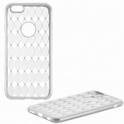 Чехол-накладка Apple iPhone 6/6S 8438 серебристый