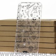 Чехол-накладка iPhone 6 Plus/6S Plus Kruche Print Хэллоуин 1