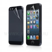 Плёнка на дисплей Apple iPhone 5 / 5S передняя + задняя Red Line глянцевая