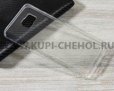 Чехол-накладка Samsung Galaxy Note 5 прозрачный глянцевый 1mm