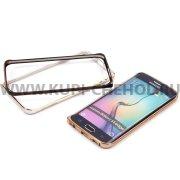 Бампер  металл  0.7mm  Samsung  S6 edge  арт. 7721  золот