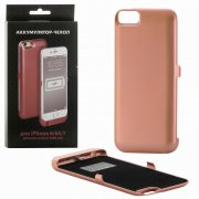 Чехол+АКБ Apple iPhone 7 3000 mAh DF iBattery-14s Rose gold