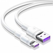 Кабель USB-Type-C Baseus Double-ring White 2m 5A УЦЕНЕН