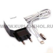 СЗУ Apple iPhone 5 / 5S 2.1A 2USB Roko JB-A03 9029 черное