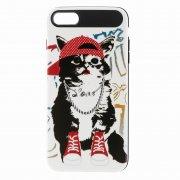 Чехол-накладка Apple iPhone 7 Противоударный Кот в кедах