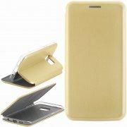 Чехол книжка Samsung Galaxy S7 Edge Book Case New 3D золотой