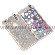 Защитная плёнка Apple iPhone 6 / 6S 4.7 2в1 3D 9468 серебристая