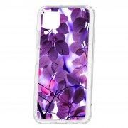 Чехол-накладка Huawei P40 Lite Kruche Print Purple leaves