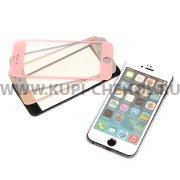 Защитное стекло Apple iPhone 6 / 6S 4.7 цветное 9073 серебряное 0.33mm
