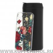 Чехол-накладка iPhone 5/5S 7703 Розы