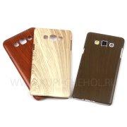 Чехол-накладка Samsung Galaxy A7 A700f Wood Shell 8579 коричневый