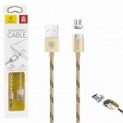 Кабель USB-Micro Baseus CAMICRO-LF0V Magnetic Gold 1м