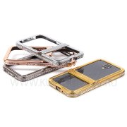 Чехол-бампер Samsung Galaxy S4 I9500 металл 8597 белый