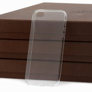 Чехол-накладка Apple iPhone 5/5S iBox Crystal прозрачный глянцевый 0.5mm