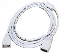 Кабель USB(F)-USB(F) Atcom AT5647 белый 1.8m