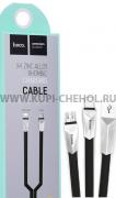 Кабель Multi USB-iP+Micro Hoco X4 Zinc Alloy Black 1m