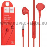 Наушники с микрофоном HOCO M9 Red