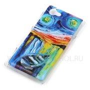 Чехол пластиковый Sony C2105 / S36H Xperia L Живопись 7844