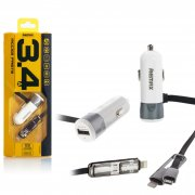 АЗУ iP+Micro+1USB Remax RCC-102 1m Silver