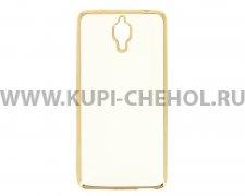 Чехол-накладка Xiaomi Mi4 Hallsen прозрачный с золотыми краями без логотипа
