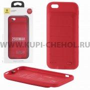 Чехол + АКБ Apple iPhone 6/6S 2500 mAh Baseus IP6-07 XB09 Red