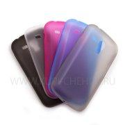 Чехол-накладка Samsung S7562 Galaxy S Duos ультратонкий синий 6812