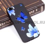 Чехол-накладка Apple iPhone 5/5S Цветы 10070