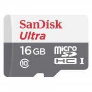 Micro SD 16Gb class 10 SanDisk UHS-I Ultra Android 80 Mb/s+адаптер