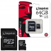 Micro SD 64Gb class 10 к/п Kingston UHS-I + адаптер