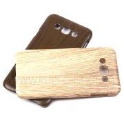 Чехол-накладка Samsung Galaxy E7 E700f Wood Shell 8579 бежевый