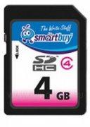 SD 4Gb class 4 к/п SmartBuy