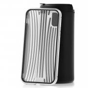 Чехол-накладка iPhone X Kruche Metal Suitcase Silver