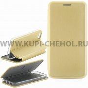 Чехол книжка Apple iPhone 5 / 5S Fashion Case с визитницей золотой