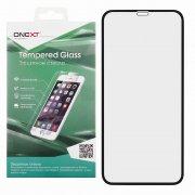Защитное стекло Apple iPhone XR/11 Onext Full Glue чёрное 0.3mm