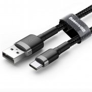 Кабель USB-Type-C Baseus Cafule CATKLF-AG1 Gray/Black 0.5m