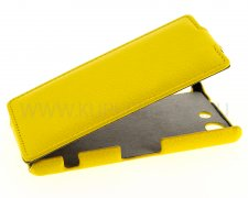 Чехол  откид  Sony  Z3  mini  UpCase  жёлт