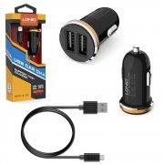 АЗУ 2USB+кабель USB-Micro Ldnio DL-C22 Black