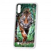 Чехол-накладка Samsung Galaxy M10 Kruche Print Крадущийся тигр