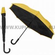 Двусторонний зонт WK WT-U1 Black/Yellow