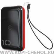 Power Bank 10000 mAh Baseus Mini Wireless PPXFF10W-19 Red