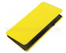Чехол книжка Samsung A700F Galaxy A7 UpCase жёлтый