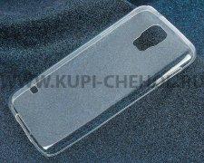 Чехол-накладка Samsung Galaxy S5 G900 iBox Crystal прозрачный глянцевый 0.5mm