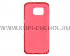 Чехол-накладка Samsung Galaxy S7 Edge красный глянцевый 1mm