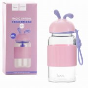 Стеклянная бутылка Hoco CP7 Pink