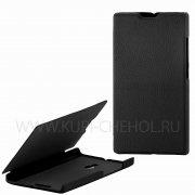 Чехол  откид  Nokia  XL  UpCase  чёрн  бок