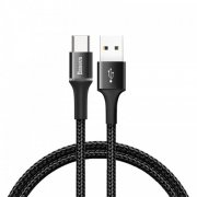 Кабель USB-Type-C Baseus Halo CATGH-B01 Black 1м 3A