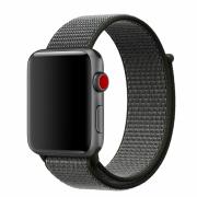 Ремешок для Apple Watch 42mm тканевый на липучке чёрный